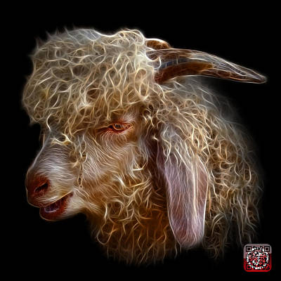 Digital Art - Angora Goat - 0073 F by James Ahn