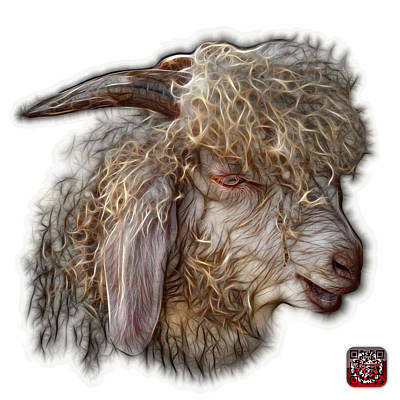 Digital Art - Angora Goat - 0073 Fs by James Ahn