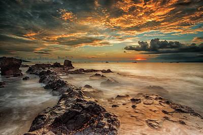 Coast Wall Art - Photograph - Angry Beach by Gunarto Song