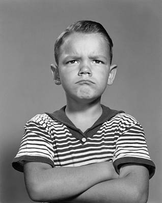 Angry Boy With Arms Folded, C.1960s Art Print by H. Armstrong Roberts/ClassicStock