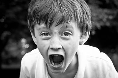 Fury Photograph - Angry Child by Tom Gowanlock