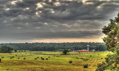 Angry Clouds Over The Farm Art Print by Douglas Barnett