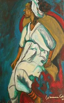 Painting - Angry Ethiopian Woman by Esther Newman-Cohen
