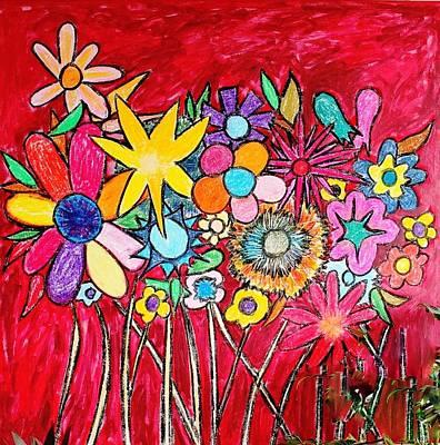 Angry Flowers Art Print