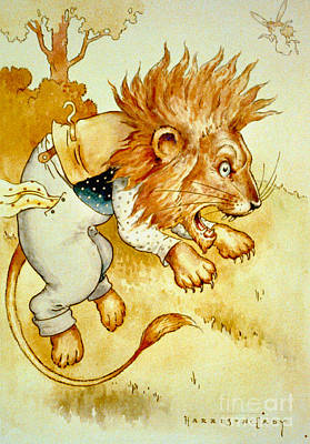 1907 Drawing - Angry Lion 1907 by Padre Art