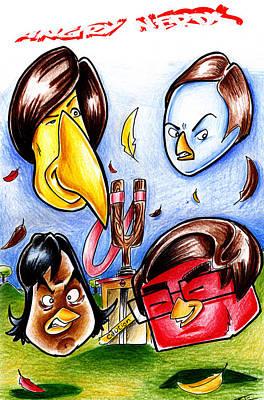 Raj Mixed Media - Angry Nerds by Big Mike Roate