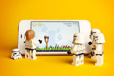 Iphone Photograph - Angry Birds Storm Troopers by Samuel Whitton