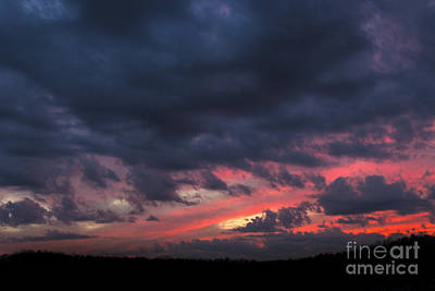 Photograph - Angry Sunset by Michael Waters