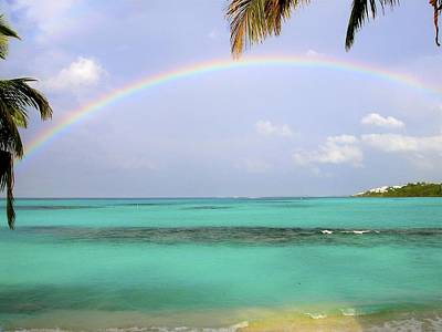 Anguilla Rainbow At Shoal Bay Art Print by Jennifer Lamanca Kaufman