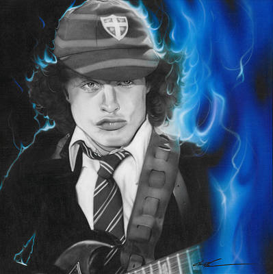 Angus Young - ' Angus ' Art Print by Christian Chapman Art