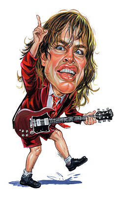 Celeb Painting - Angus Young by Art