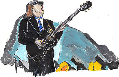 Angus Young Painting - Angus Young by Dana Smith