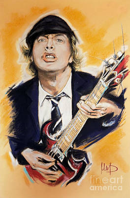 Ac Dc Pastel - Angus Young by Melanie D
