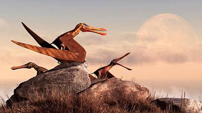 Flying Dinosaur Digital Art - Anhanguera by Daniel Eskridge