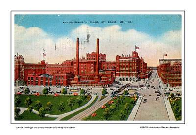 Anheuser Busch Plant 1943 Art Print