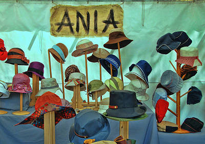 Photograph - Ania's Hats by Allen Beatty