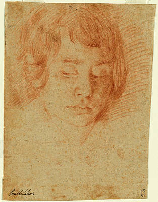 Aniello Falcone Italian, 1607 - 1656, Head Of A Boy Art Print by Quint Lox