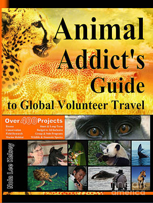 Digital Art - Animal Addict's Book Cover by Nola Lee Kelsey