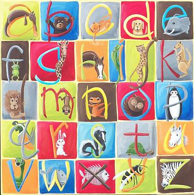Newts Painting - Animal Alphabet by Tracie Davis