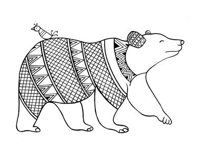Fun Drawing - Animal Bear by Neeti Goswami