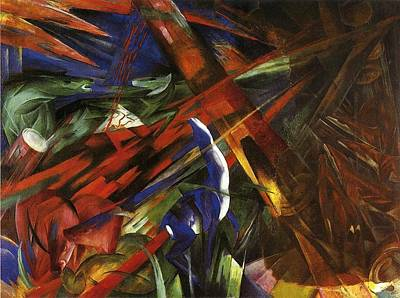 Destiny Painting - Animal Destinies by Franz Marc