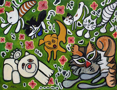 Painting - Animal Family by Anita Dale Livaditis