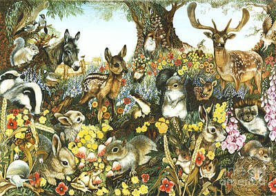This Is England Painting - Animal Fantasia 1 by June Payne Hart