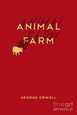 Book Covers Drawing - Animal Farm Book Cover Poster Art 1 by Nishanth Gopinathan