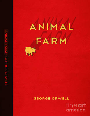 Book Covers Drawing - Animal Farm Book Cover Poster Art 2 by Nishanth Gopinathan