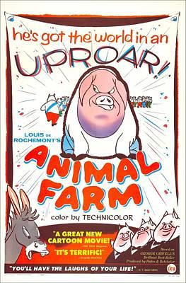Animal Farm, British Poster, 1954 Art Print