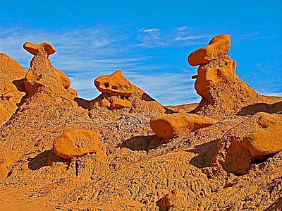 Animal Goblins On Entrada Trail In Goblin Valley State Park-utah  Original by Ruth Hager