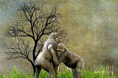 Animal - Gorillas - Aint Love Grand Art Print