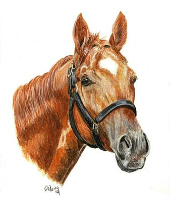 Race Horse Painting - Animal Kingdom by Pat DeLong