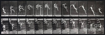 Animal Locomotion Of Man Jumping Hurdle Art Print by MMA Philadelphia Commercial Museum