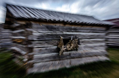 Photograph - Animal Pelt Being Blown From The Window by Debra Martz