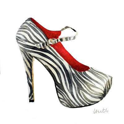 Stilettos Painting - Animal Print Stiletto by Lanie Loreth
