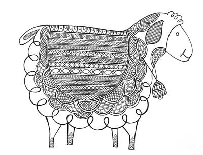 Animal Sheep 2 Art Print
