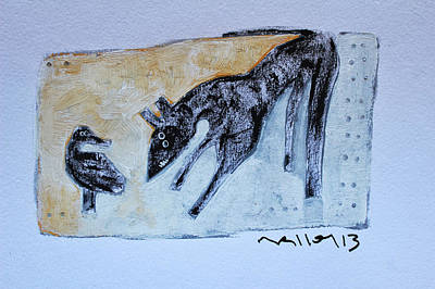 Outsider Art Painting - Animalia Canis No. 4 by Mark M  Mellon