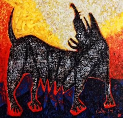 Abstract Expression Painting - Animalia Canis No. 8  by Mark M  Mellon