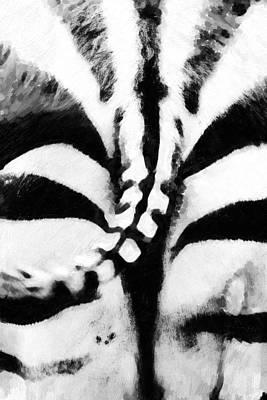 Stripes Mixed Media - Animals Back Zebra by Tommytechno Sweden