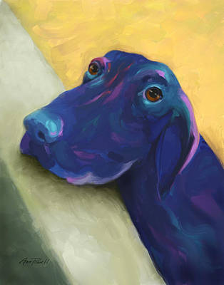Painting - Animals Dogs Labrador Retriever Begging by Ann Powell