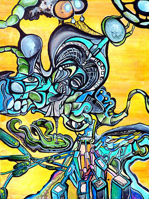 Trippy Painting - Animatronic Sunrise by Larry Calabrese