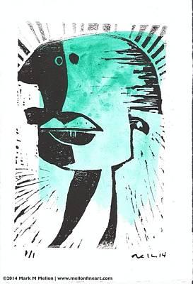 Animus Turquoise  Original by Mark M  Mellon