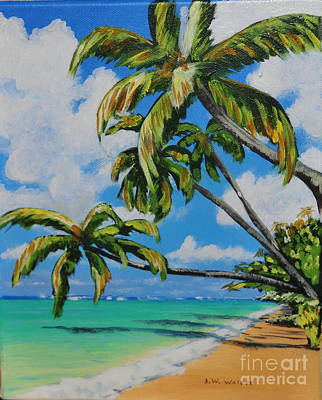 Painting - Anini Beach Kauai by John W Walker