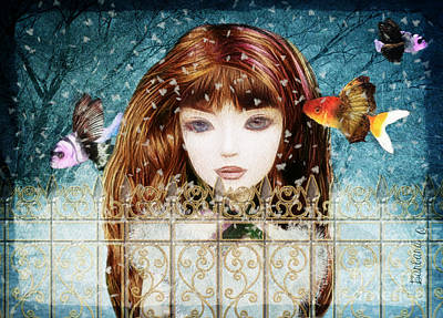 Aniolina Felicslawa Art Print by Barbara Orenya