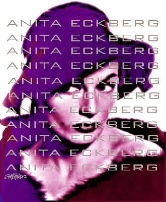 Anita Eckberg In Wine Art Print by Seth Weaver