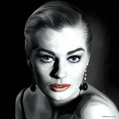 Digital Art - Anita Ekberg Large Size Portrait by Gabriel T Toro