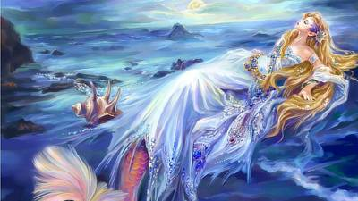 Anjelesa Angel Mermaid  Art Print