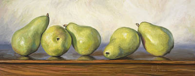 Painting - Anjou Pears by Lucie Bilodeau