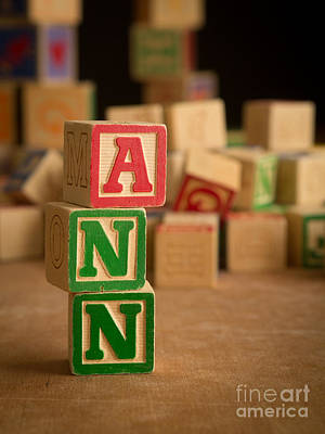 Photograph - Ann - Alphabet Blocks by Edward Fielding